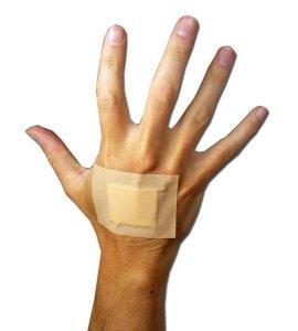 pierwsza pomoc, ręka, opatrunek
